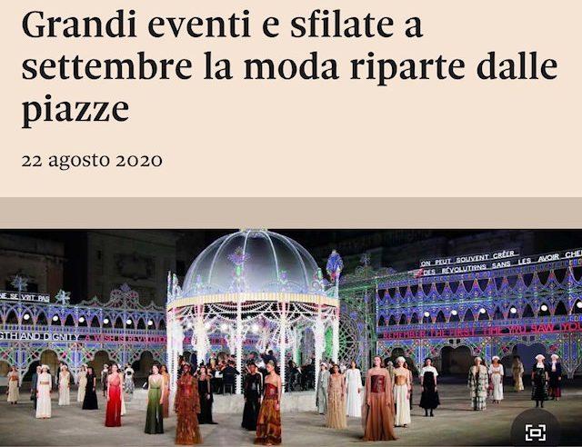 Grandi eventi e sfilate a settembre la moda riparte dalle piazze